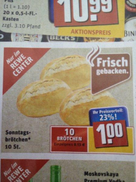 [Rewe-Center] 10 Sonntagsbrötchen für 1 Euro