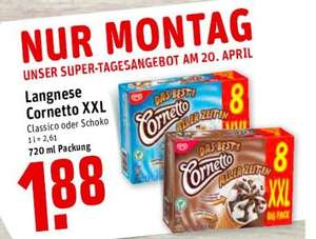 [REWE Dortmund] Cornetto XXL Big Pack für 1,88 Euro