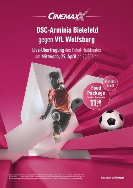 [lokal Bielefeld] Kostenlos ins Kino zu Pokalhalbfinale - DSC Arminia Bielefeld vs. VFL Wolfsburg am 29.04.2015