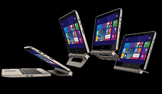 Medion S6413T Convertible - Intel i5-4210U, 4GB RAM, 64GB SSD, 1TB HDD, 15,6 Zoll Full-HD Touchscreen, Windows 8.1 - 554,95€ - Medion.de