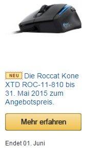 ROCCAT Kone XTD bei Amazon für 69,99 € (statt 79,00 € Idealo Vergleich)