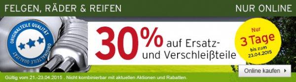 [A.T.U. Online] 30 % auf alle Ersatz- und Verschleißteile