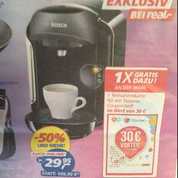 Praktisch kostenlose Kaffeemaschine