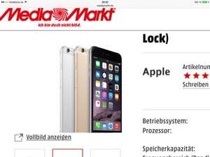 Apple iPhone 6 Plus 128GB für 799€ (VGL: 924€) @Media Markt Online