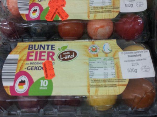 [lokal] Netto MD Eggersdorf 0,09 Euro: bunte gekochte Eier 90% Ersparnis