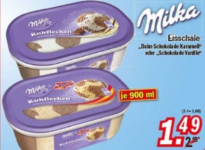 [ZIMMERMANN] KW18: 4x Milka Eisschalen versch. Sorten 900ml für 0,99€/Stück (Angebot + Scondoo)