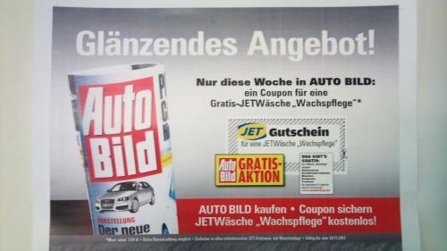 Kostenlose Wachs-Autowäsche mit AutoBild Gutschein