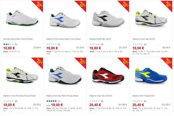 [Sportsdirect.com] - Diadora-Tennisschuhe bis zu 80 % reduziert