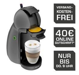 KRUPS KP 100 B Piccolo Kapselmaschine + 40€ Kapsel Gutschein für 29€ @Saturn.de