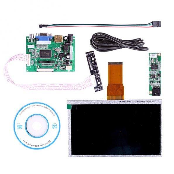 "SainSmart 7"" Touch Screen Display + Driver Board HDMI VGA 2A For Raspberry Pi"