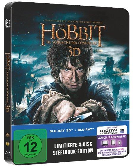 Hobbit - Schlacht der fünf Heere - Steelbook - 3D BD & 2D BD Saturn/MediaMarkt