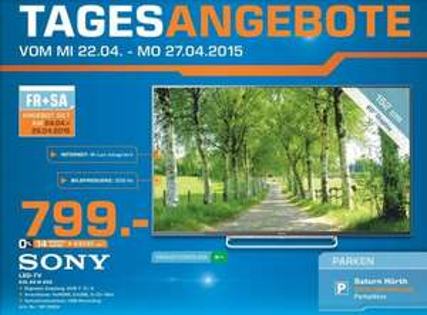 [Lokal Saturn Hürth bei Köln] Sony BRAVIA KDL-60W605 153 cm (60 Zoll) LED-Backlight-Fernseher 799€