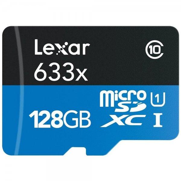 Lexar 128GB High-Performance Speicherkarte Class 10 UHS-1 micro-SDXC inkl.Vsk für 69,90 € > [ebay.de]