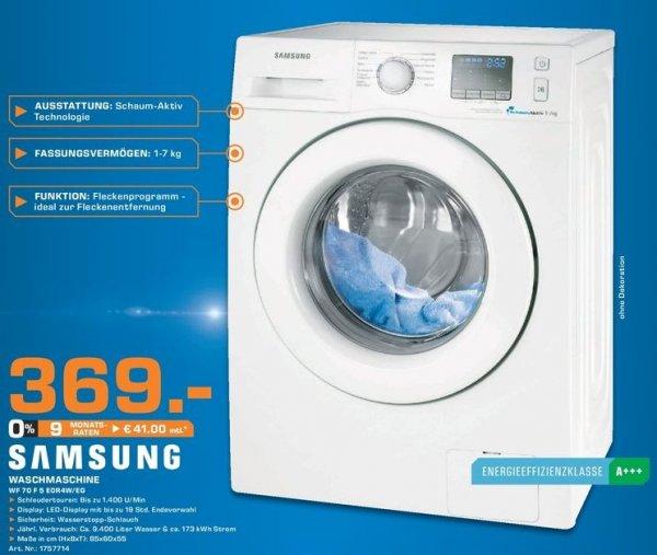 [lokal] Saturn Bad Homburg: Waschmaschine Samsung WF70F5E0R4W für 369€ inkl. Lieferung