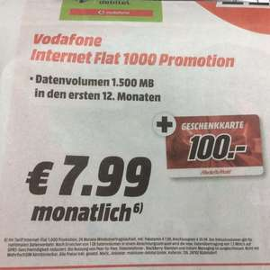 Media Markt Vodafone Internet Flat 1000 Promotion MD