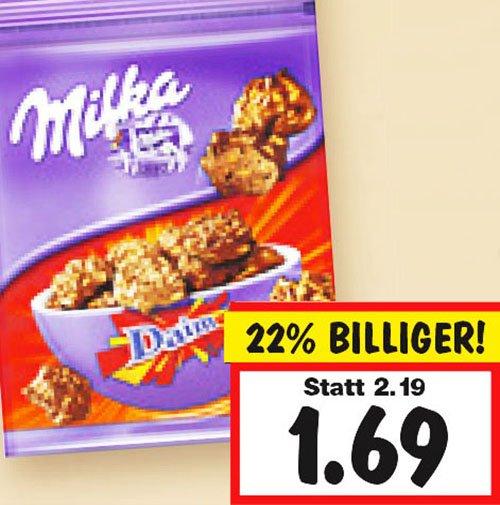 Milka Snax 3 Beutel kaufen, 2€ sparen, so pro Beutel nur noch 1€ ! bei [Kaufland]