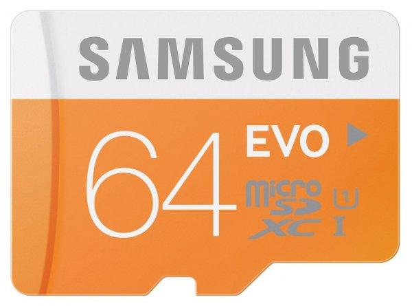 Samsung microSDXC EVO 64GB Class 10 UHS-I für 22€ @ Comtech - oder 32GB für 11€