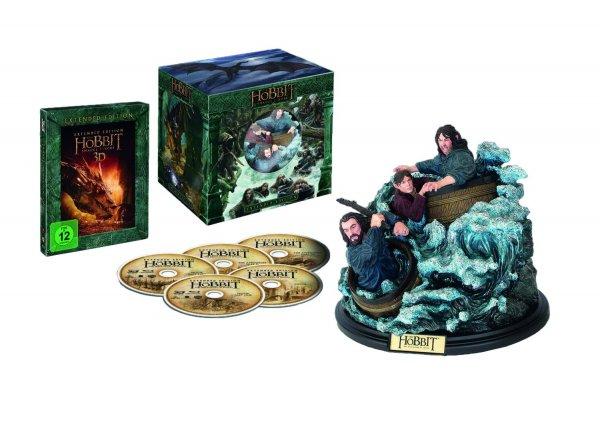 Der Hobbit: Smaugs Einöde [Extended Collector's Edition] [Blu-ray + Blu-ray 3D] mit WETA Figur 39.97€ @amazon Blitz