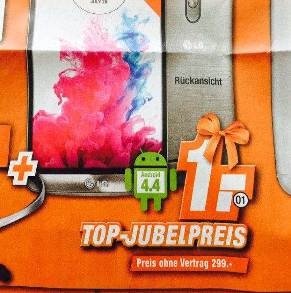 (Lokal Expert Technikmärkte) LG G3 16GB (ohne S) Vertragsfrei 299€