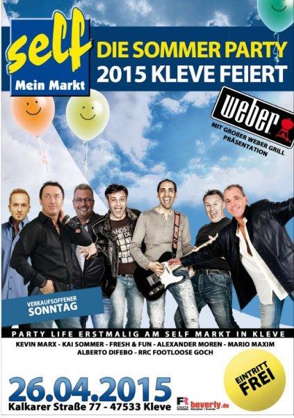 [Lokal - Kleve] Sommerparty 2015 am 26.04.2015. Sieben Liveacts und Gratis-Popcorn für Kids. Eintritt frei.