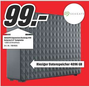 [Lokal Essen Mediamarkt] Seagate Expansion Desktop USB3.0 - 4TB / 3,5""
