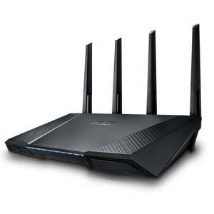ASUS RT-AC87U Du­al­band Wire­less-AC2400 Gi­ga­bit WLAN Router (802.11 a/b/g/n/ac, Gigabit LAN/WAN, USB 3.0, Print FTP UPnP VPN Server, IPv6, 8x SSID, AiRadar, Wave 2 Mu-Mimo) für 186,49€ @Amazon.fr