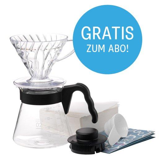 Hario v60 Filterkaffee Einsteigerset ab 13,45 (inklusive Kaffee!) bei Coffee Circle