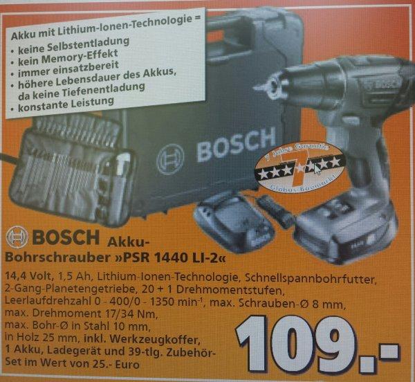 (lokal Ludwigsburg) Bosch Akku-Bohrschrauber PSR 1440  li-2