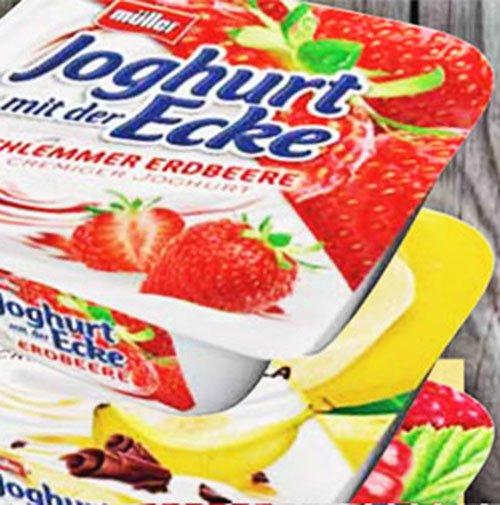 Joghurt mit der Ecke von Müller für nur 25 Cent bei [Jibi, Combi, Minipreis, Famila]
