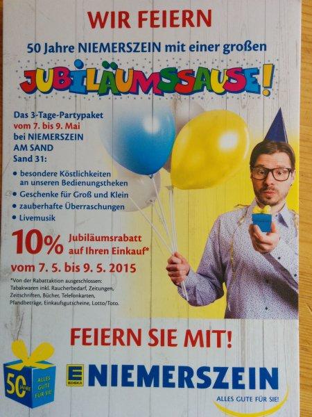 [Lokal Hamburg-Harburg] Edeka Niemerszein Jubiläumsangebot 10% auf den Einkauf