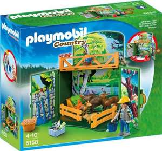 "PLAYMOBIL 6158 - Aufklapp-Spiel-Box ""Waldtierfütterung"" @Amazon"