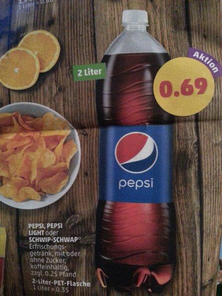 Pepsi / Pepsi light / Schwip-Schwap 2 Liter Flasche für 0,69€ @Penny