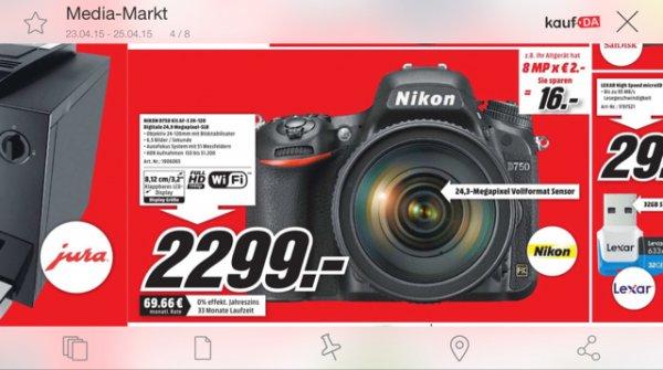 [Media Markt Weiterstadt] Nikon D750 Kit mit 24-120mm