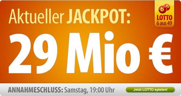 7 Felder Lotto 6 aus 49 für € 1,50 bei Tipp24.com