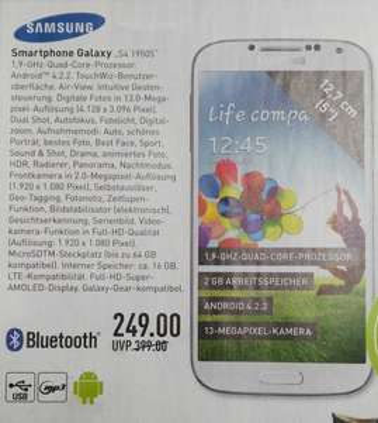 Lokal Bielefeld: Samsung Galaxy S4 i9505