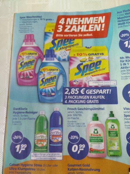 [Real Bundesweit] 4x Spee flüssig für 6,55 (10 Cent pro Waschladung)