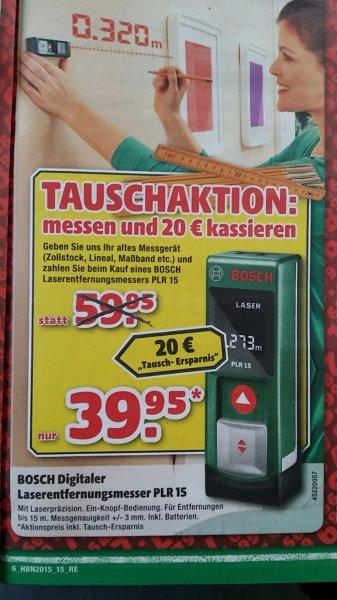39,95€ idealo 44.95€. Laserentfernungsmessgerät PLR 15 - Hagebaumarkt [Osnabrück, Bochum, Oberhausen, Osterholz-Scharmbeck, Paderborn]