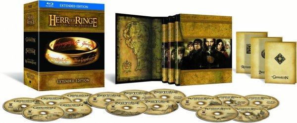 Der Herr der Ringe - Die Spielfilm Trilogie (Extended Edition) [Blu-ray] für 34,- bei Abholung mit Newsletter bei Saturn oder für 39,- EUR mit kostenlosem Versand bei Amazon