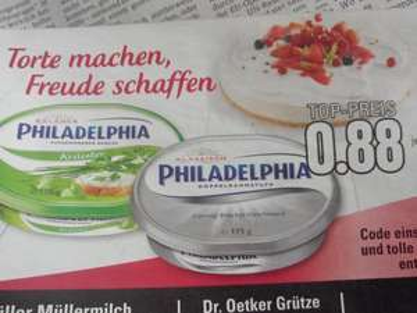 ( Edeka Rhein Ruhr ) Kraft Philadelphia Käse  für 0,88 Euro