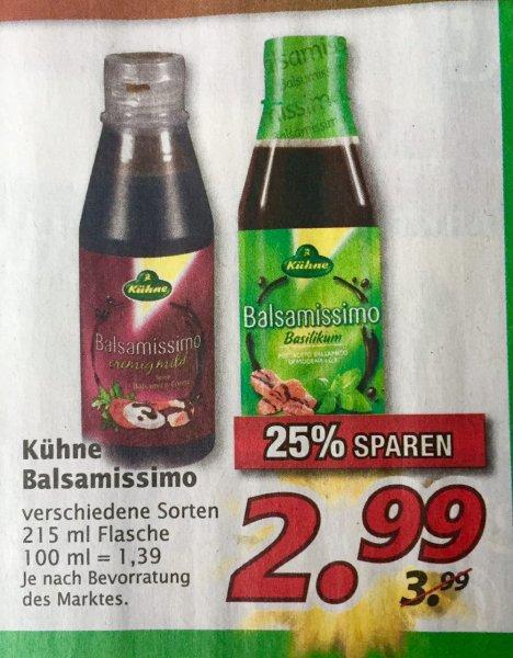 [Marktkauf Nordbayern? + Scondoo]  Kühne Balsamissimo für 1,49€