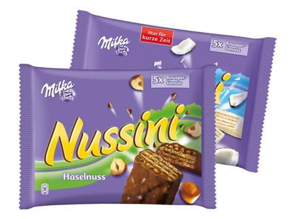 [KNÜLLER] KW18: 5x Milka Nussini Haselnuss 185g / Cocos 200g für 0,79€/Packung (Angebot + Scondoo)