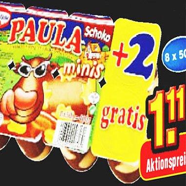 PAULA Kuhflecken Pudding minis nur 1,11€ UND 2 Becher gratis! bei [Netto MD]
