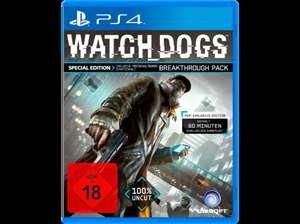 Saturn Online - Watch_Dogs (Special Edition) - PlayStation 4 für 17€  inkl. Versand.  Qipu bringt 2,5% = 43 Cent