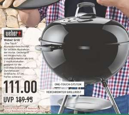 [Marktkauf] Weber One Touch Original 57cm für 111€ (Idealo 165,90) (mit Tiefpreisgarantie bei Hornbach deutschlandweit und nur 100€)