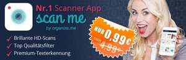 """(iOS) Scanner App """"scan me"""" nur 0,99€ bei App Dealz"""