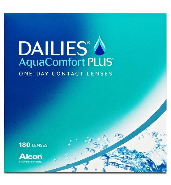 [Amazon] Dailies Aquacomfort Plus Tageslinsen weich, 180 Stück / BC 8.7 mm / DIA 14 / +1.25 Dioptrien für 38,17€