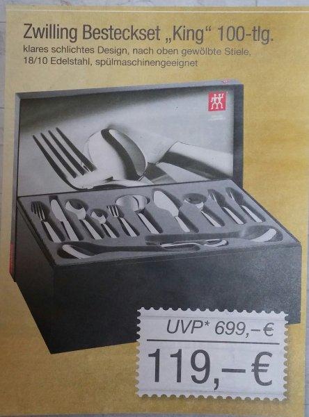 [Lokal Famila Leer] Zwilling Besteckset King 100-tlg. für nur 119€ (Idealo und Billiger.de ab 195€)