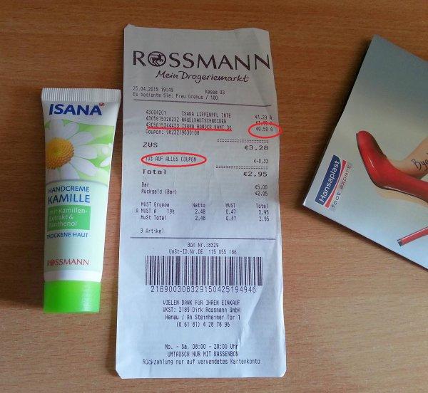UPDATE241*[ROSSMANN] Isana Handcreme 30ml für 0,15 (Scondoo + 10% Coupon)