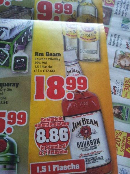 [Trinkgut] 1,5 l Flasche Jim Beam für 18,99 €
