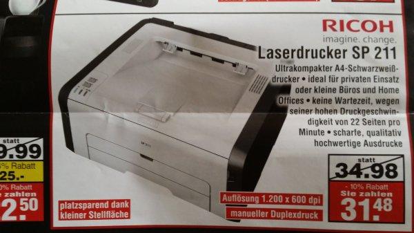 [Netto Wesenberg] Ricoh  Laserdrucker SP211